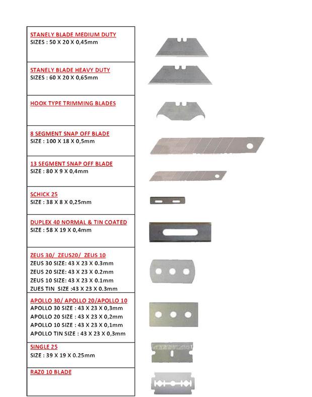 Schick Blades,Duplex Blades, Apollo Blades, Snap Off Blades