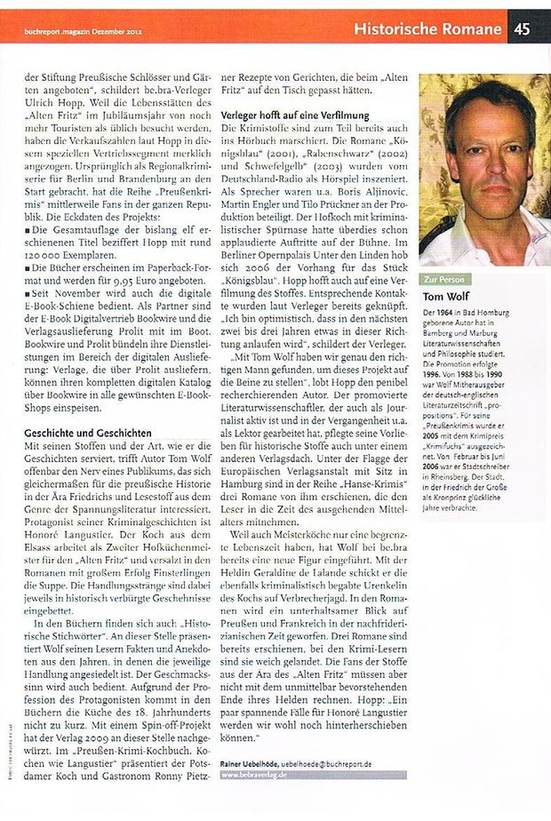 aktuell: Buchreport Magazin Dezember 2012