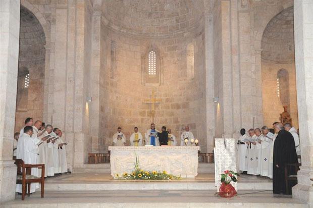 Interior de la Basilica de Santa Ana en Tierra Santa (Jerusalen)
