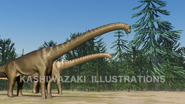 ブラキオサウルスの食事