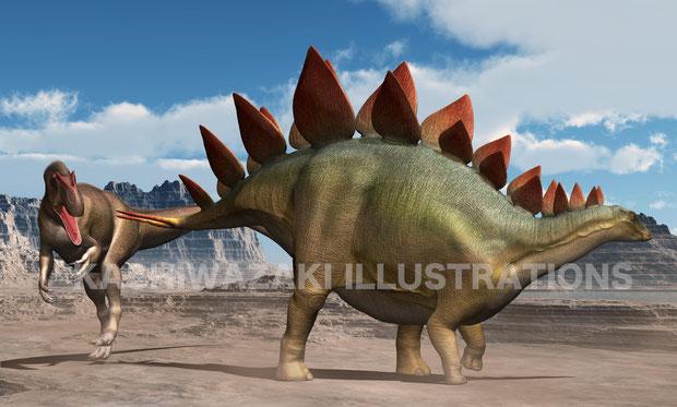 戦うステゴサウルス