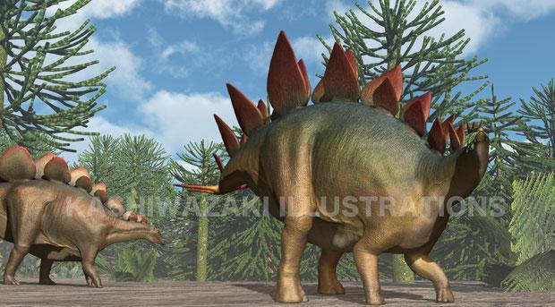 ステゴサウルスの食事