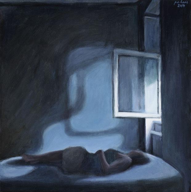 philipp christoph haas | [ohne titel] aus der serie 'interieur', akryl auf leinwand, 46x46cm, 2014