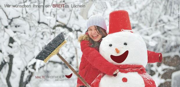 Wir wünschen Ihnen ein BREITes Lächeln für 2013