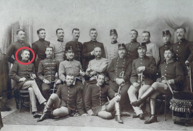 1891 – 1893 galizisches Infanterieregiment Nr. 55 Nikolaus I. König v. Montenegro Lemberg; Leutnant Franz Kammer