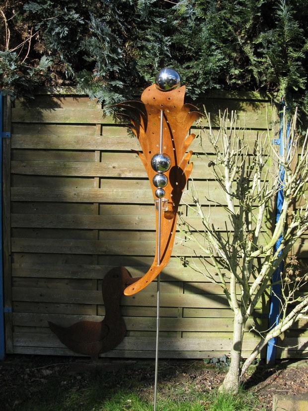 gartenstecker rost und edelstahl | lyfa, Gartenarbeit ideen
