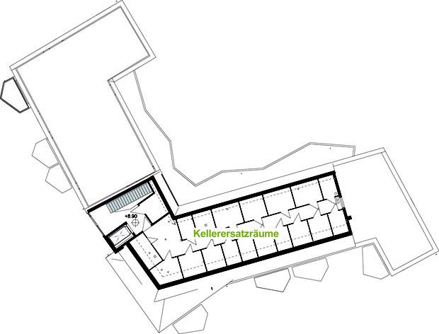 LiNa Dachgeschoss mit Kellerersatzräumen aus leichten Industrie Dachelementen