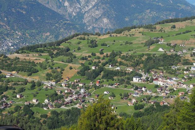 Bürchen,Lerchboden, Obscha, Hasel, Boden, Mauracker, Kerk, dorp,