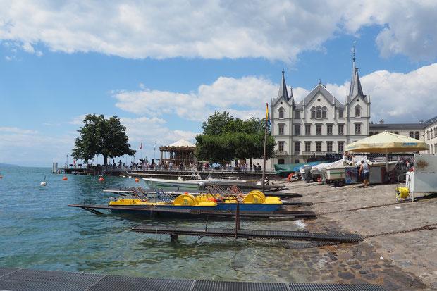 Vevey, Meer van Genève, Zwitserland, bergen, wandelen, zwemmen, water,
