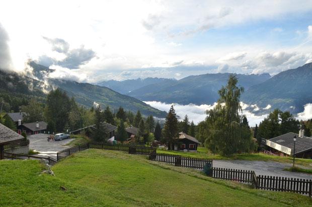 uitzicht, chalet, dunja, vakantie, huisje, recreatiewoning, Zwitserland, wallis, wandelen, bergen,