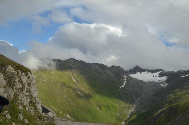 Furkapass, Bergen, nieuw, groen, gletscher,