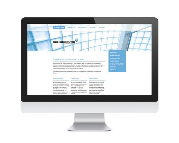 Glaserei Wels Schönbrunn Website / Homepage