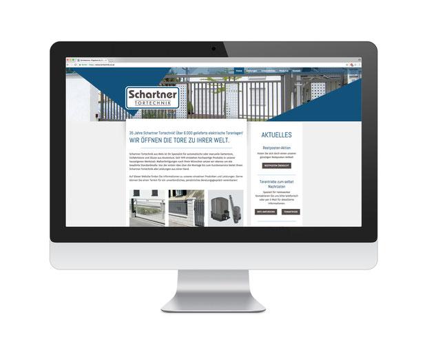 Schartner Tortechnik neue Website / Homepage erstellt von MAXSELLS Werbeagentur Wels