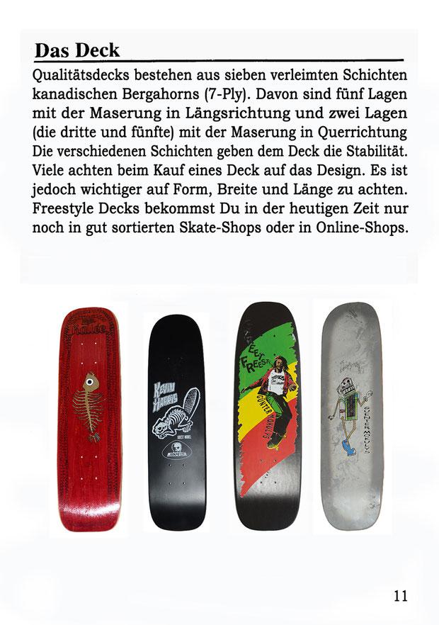 Skateboard Freestyle Decks.