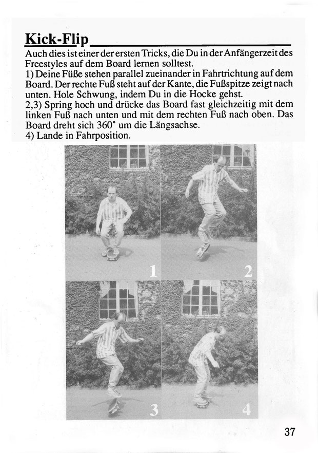 Herrman Finkmann. Münster 1987. Trick: Kickflip.