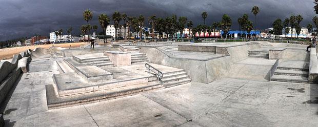 Venice Beach Skatepark, Kalifornien-USA.