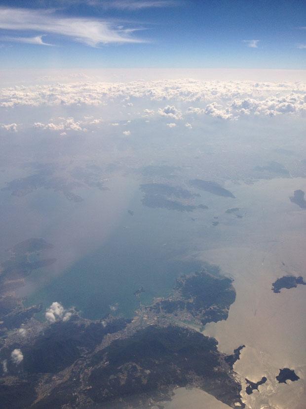帰りの飛行機からの風景