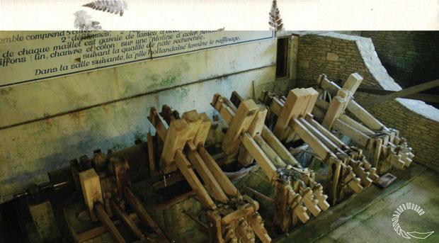 la pile à maillet du moulin à papier de vallis clausa