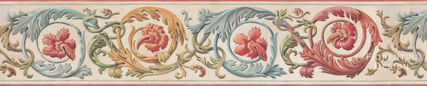 Acanthus, Renaissance Wallpaper Border by Irma Fiorentini - Fiorentini Design, Classical Murals, Wallpaper Borders