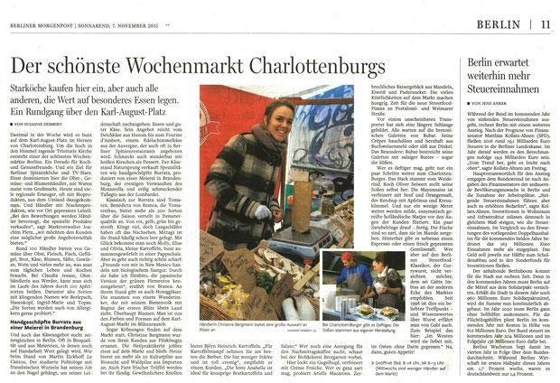 Artikel in der Berliner Morgenpost, November 2015