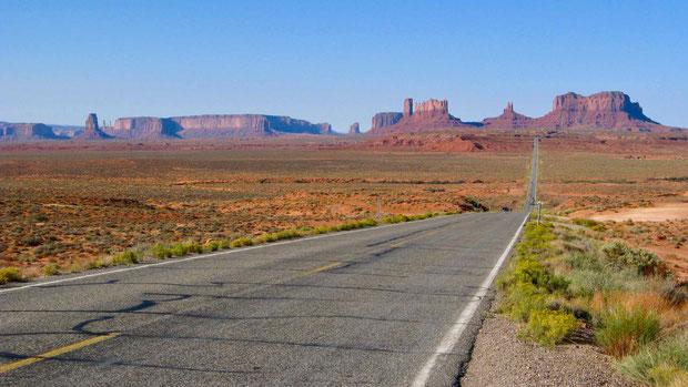 USA Monument Valley mit dem Mietwagen