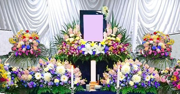 基本の生花祭壇