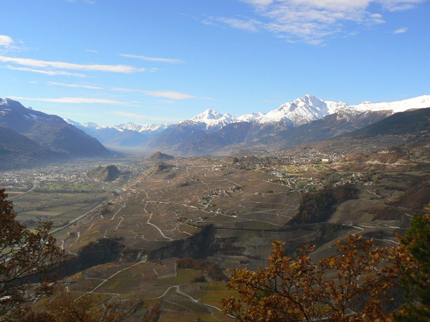 Rhônetal, Ausblick vom Le Châtélard