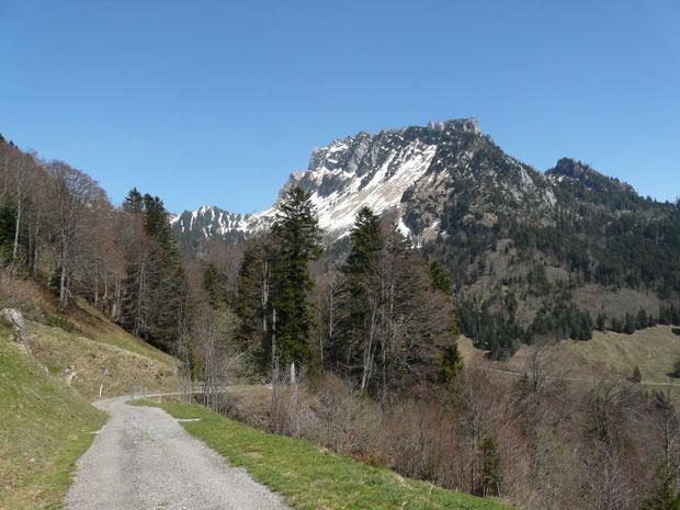 Blick von der Alp Matt auf den Mattstock