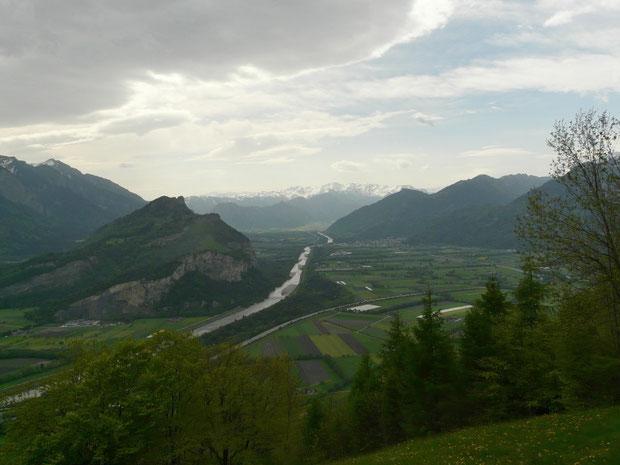 Blick auf das Rheintal