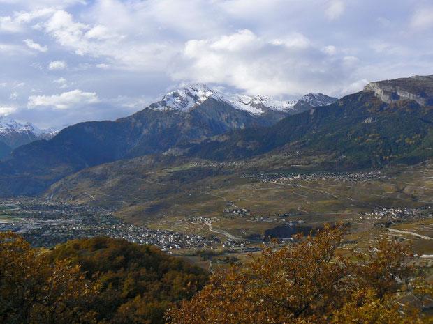 Aussicht vom Mont d'Orge Richtung Nord-West