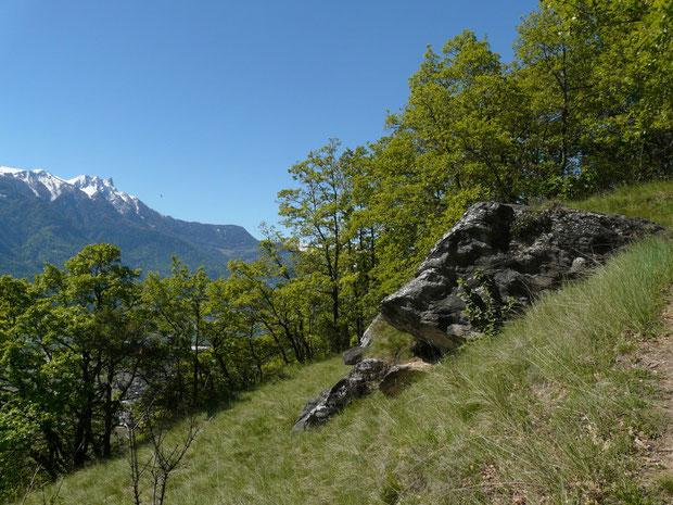 Bergweg zum Ardève bei La Planche