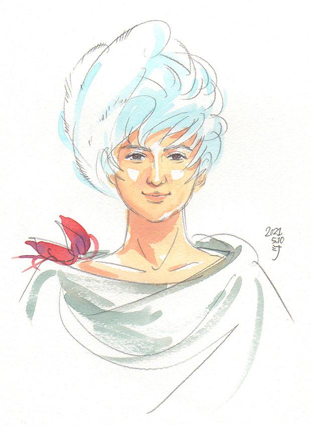 霊視結果イラスト:貴族を楽しませる☆道化師さん〜前世&守護霊さま〜