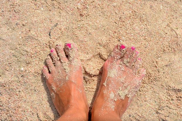 Бело-розовый песок!