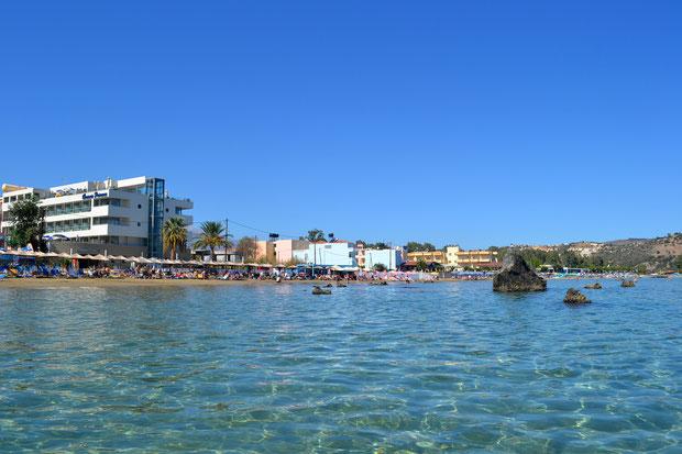 Эгейское море рядом с нашим отелем