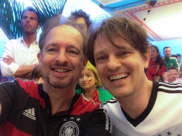 Robert und Thomas am deutschen Kiosk TOR in Rio de Janeiro