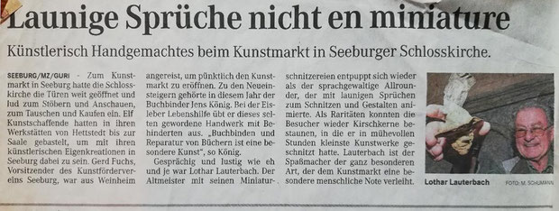 10.12.2012 MZ Eisleben Teilnahme am Seeburger Kunstmarkt