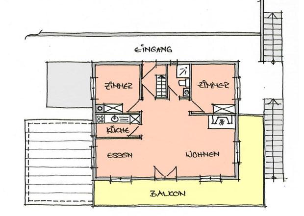 Abbildung 2: Grundriss 1. Obergeschoss