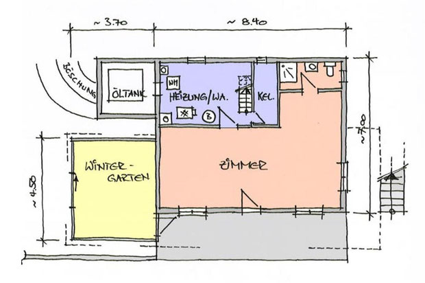 Abbildung 5: Grundriss Erdgeschoss