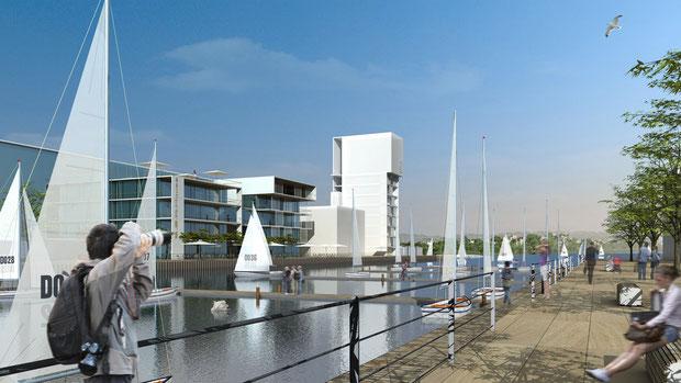 phoenixsee dortmund 2010 hafen 12 drahtler architekten dortmund planungsgrupppe dsw gruppe drei werbeagentur ideenwettbewerb 2010