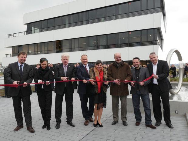 Offizielle Eröffnung des SWAN | 08.04.2016 phoenixsee dortmund drahtler architekten planungsgruppe oberbürgermeister marius drahtler architektur