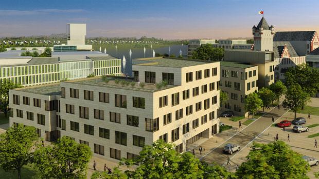 Hafentor phoenixsee dortmund hörde drahtler architekten dortmund planungsgruppe visualisierung architektur