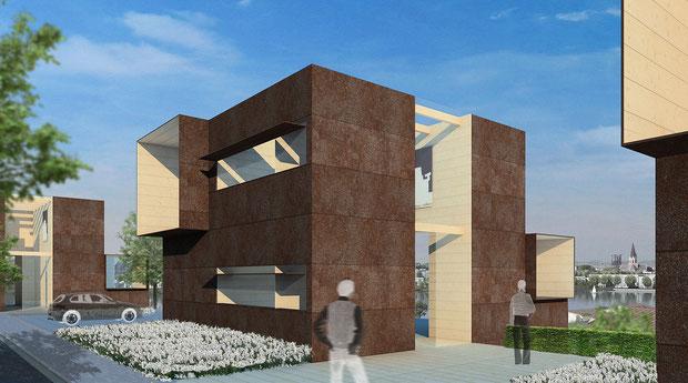 wohnen am phoenix see dortmund drahtler architekten planungsgruppe architektur visualisierung DA konzept neu