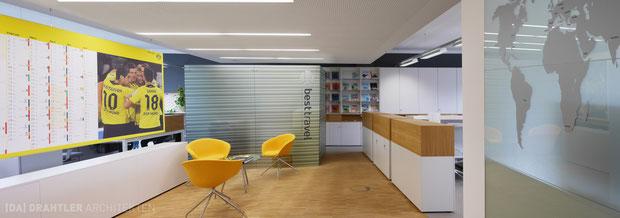Artrion bvb geschäftsstelle borussia dortmund drahtler architekten planungsgruppe planung interior besttravel