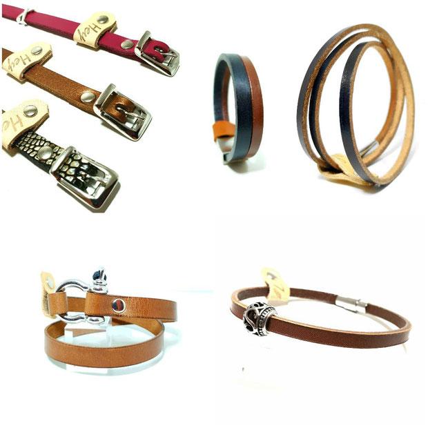 bracelets-cuir-véritable-acier-inox