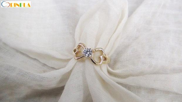K18手作り婚約指輪