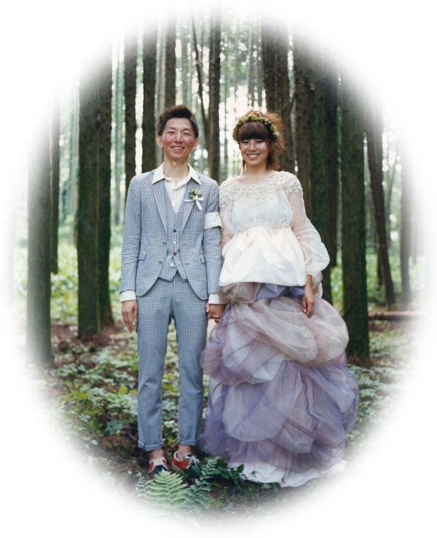 森の中の手作り結婚式