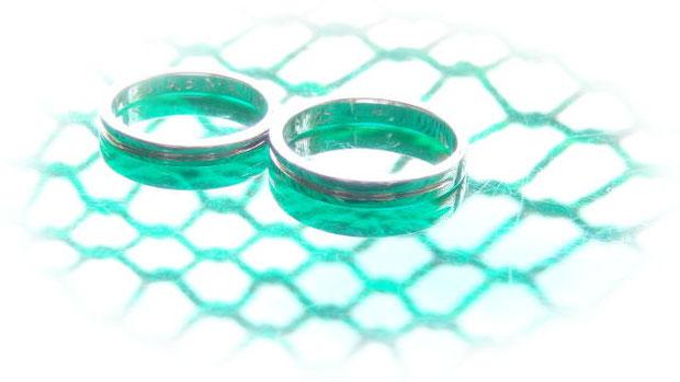 結婚指輪を奇麗に磨き直し