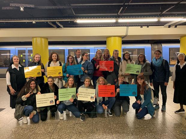 Unterwegs zur großen Klima-Demo am Königsplatz
