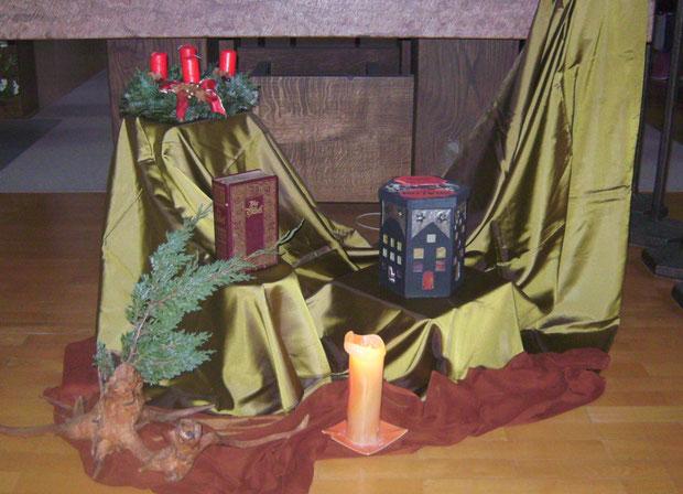 Altarbild unserer Adventseinstimmung