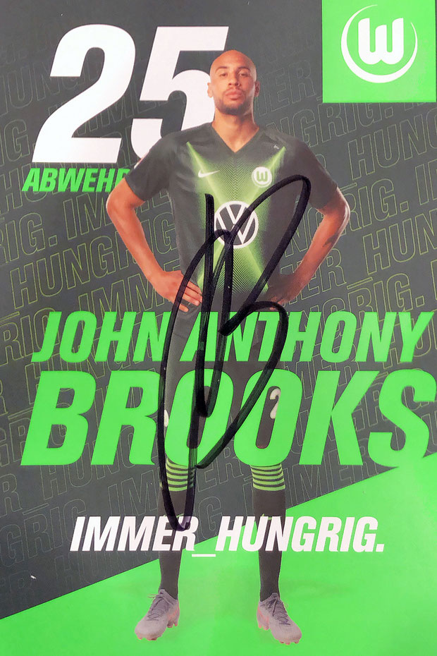 Autograph John Anthony Brooks Autogramm